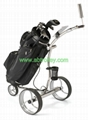 Stainless steel electric golf trolley,GOOD FUNCTION golf trolley 7