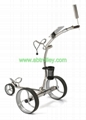 Stainless steel electric golf trolley,GOOD FUNCTION golf trolley