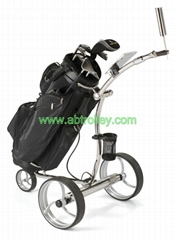 High Grade Stainless steel Golf Trolley with double brushless motors