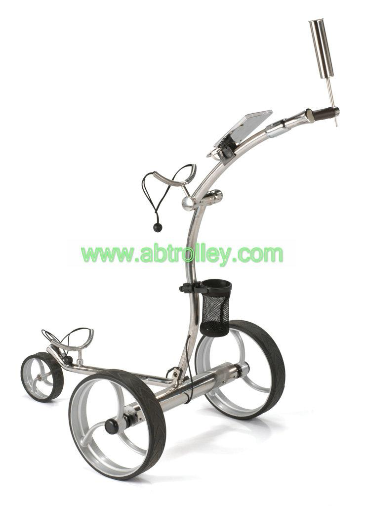 high grade stainless steel golf trolley with double