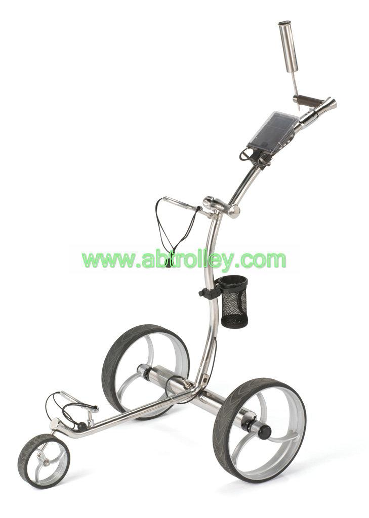 Wave shaped Germany stainless steel golf trolley with lithium battery 5