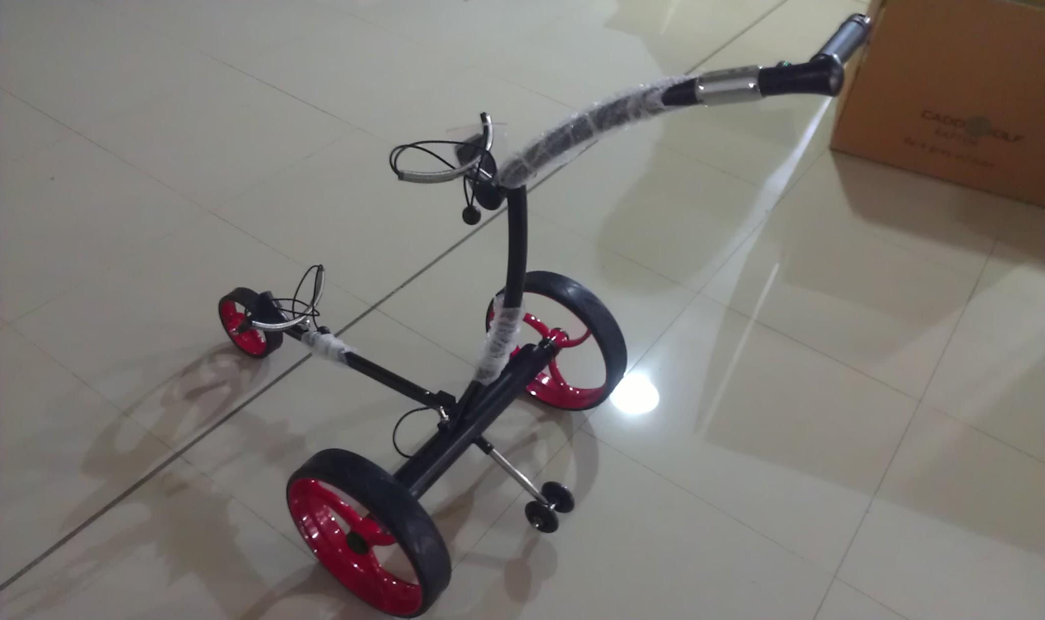Remote control Electric Stainless steel Golf Trolley of double quite motors 2