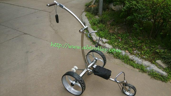 Remote control Electric Stainless steel Golf Trolley of double quite motors 5