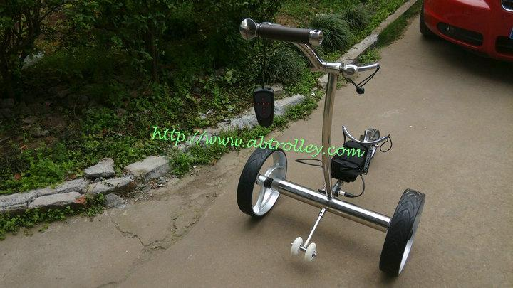 Remote control Electric Stainless steel Golf Trolley of double quite motors 10