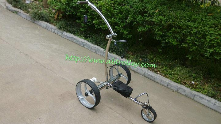 Remote control Electric Stainless steel Golf Trolley of double quite motors 12
