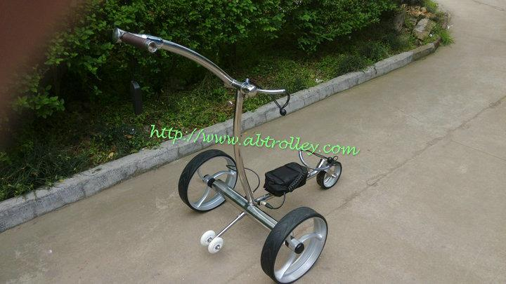 Remote control Electric Stainless steel Golf Trolley of double quite motors 14