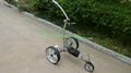 Remote control Electric Stainless steel Golf Trolley of double quite motors