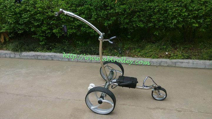 Remote control Electric Stainless steel Golf Trolley of double quite motors 18