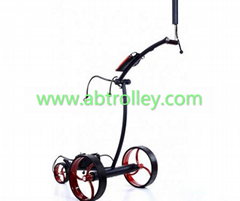 Noble 007E electrical stainless steel golf trolley, lithium battery