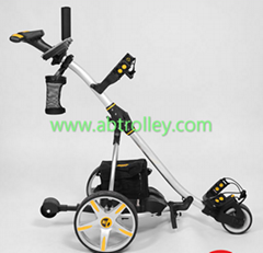 S1T2 sports remote golf trolley tubular motors lithium battery