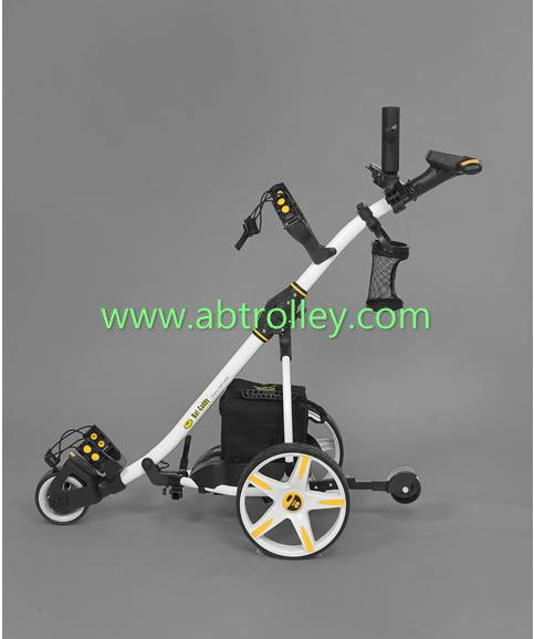 S1T2 sports remote golf trolley tubular motors lithium battery 3