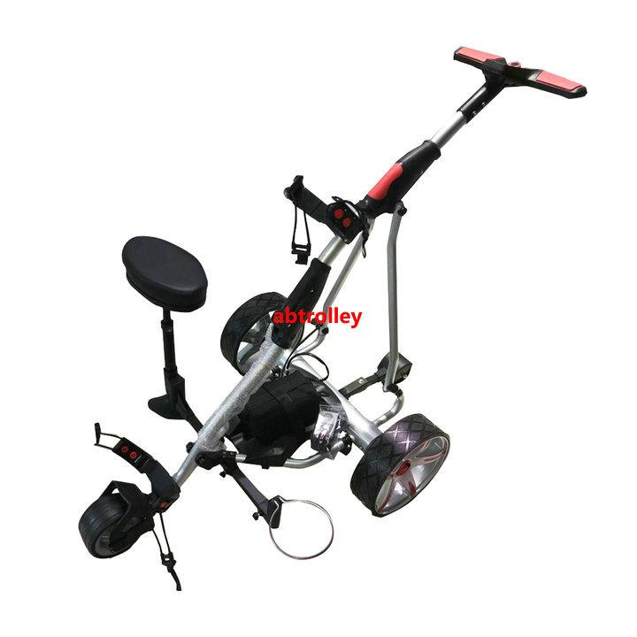 Electric Cruiser Golf b   y With Power Motor Remote Golf Trolley With seat 1