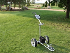 Electrical golf trolley