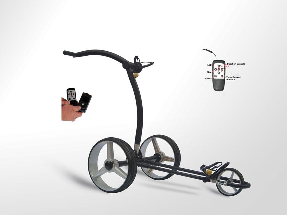Remote electric golf trolley