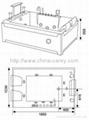 Massage bathtub(with 17 inch TV)  T-2131C