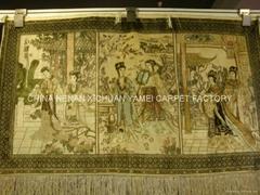 出口美女挂毯 藝朮地毯-水洗紅樓夢挂毯