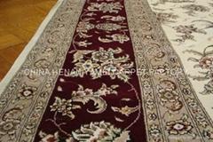 中国批发手工地毯 水洗丝毛合织地毯 古代地毯