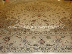 supply handmade silk & wool carpet Antique carpet In Italia il tappeto