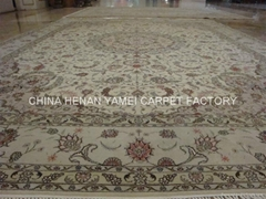 供应手工丝毛合织地毯 广州地毯 东方地毯