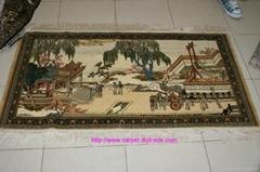 wood supply art tapestry British carpet silk art rug
