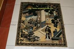 Persian Art carpet Supplier-antique silk picture carpet