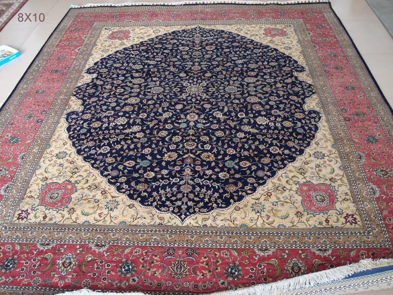 手工波斯藝朮挂毯,天然蠶絲 1
