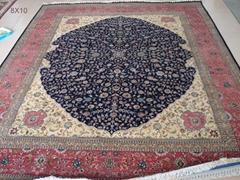 手工波斯艺术挂毯,天然蚕丝