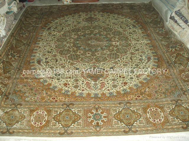 手工波斯地毯/挂毯305x246cm 波斯富贵优惠德国真丝地毯 3