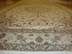 与奔驰,苹果一样品质的手工丝毛合织挂毯 东方地毯 羊毛地毯