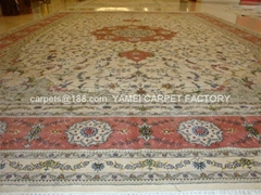 Persian riches produces high quality washed silk and woolcarpet بساط المشي الطبي