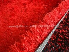 批發冰絲地毯  浴室地毯 紅色毯子 長毛地毯
