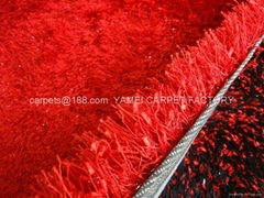 Wholesale ice silk carpet plush carpet bathroom carpet red blanket