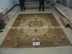 亚美批发 零售手工打结波斯毯子/地毯 真丝艺术挂毯