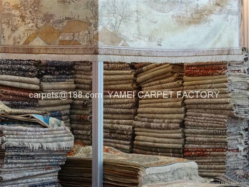 供巨型手工波斯地毯 沙特阿拉伯图案 今日8折广交会热抢挂毯 2
