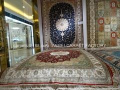 最好金壁辉煌的总统地毯 金丝地毯和挂毯 手工丝绸波斯地毯