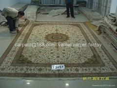 廠價手工天然蠶絲地毯 絲綢波斯地毯305x428cm 天然蠶絲地毯
