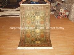 Denmark antique silk embroidery Artists silk carpet