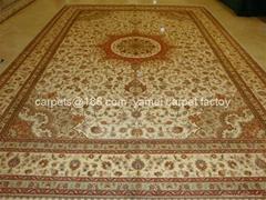 Antique carpet-antique silk lanterns