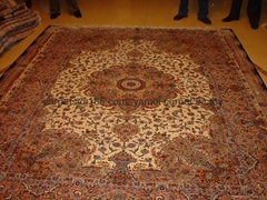 Persian silk & wool rug&