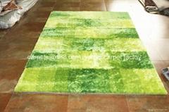 广州市批发长毛地毯 订制纯色系列冰丝地毯
