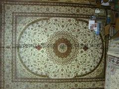 波斯富貴廣州市倉庫供 9x12ft 手工地毯 藝朮地毯 絲綢高級