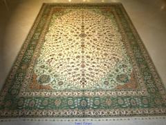 广交会高级地毯 真丝地毯 手工编织波斯图案 广州地毯 600L