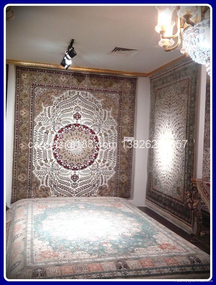 手工波斯地毯/挂毯305x246cm 波斯富贵优惠德国真丝地毯 4