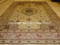 天然蠶絲地毯10x14 ft