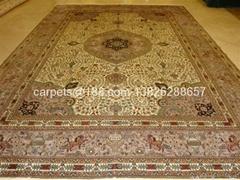 天然蚕丝地毯10x14 ft Yamei Collection 手工编织地毯