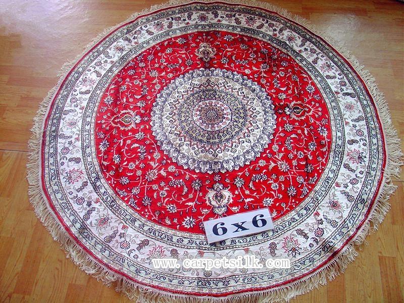 handmade silk corridor blanket carpet size 6x6 ft 1