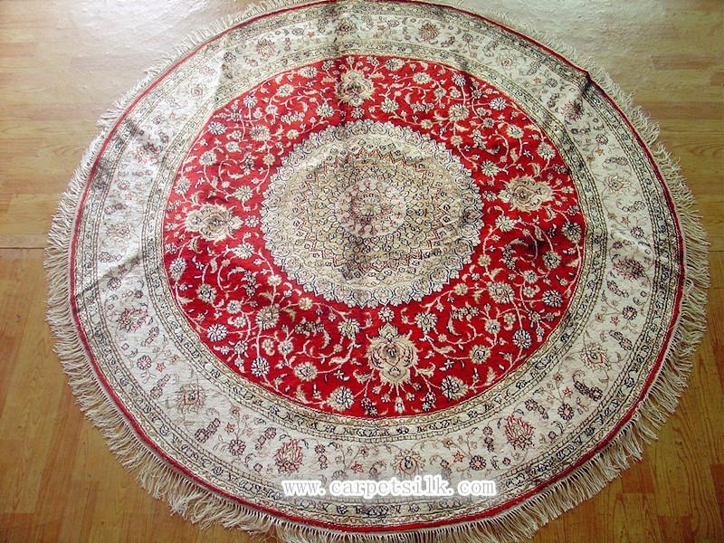 handmade silk corridor blanket carpet size 6x6 ft 2