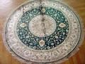 handmade silk corridor blanket carpet size 6x6 ft 4