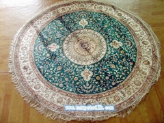 handmade silk round carpet size 6x6 ft