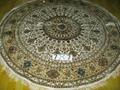 廣州批發手工真絲圓形毯子7x7